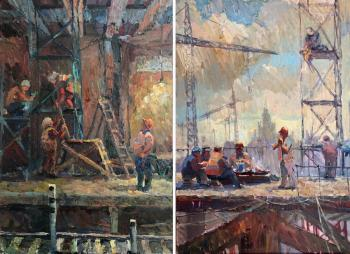 Guseva Olga. The New Moscow. Diptych