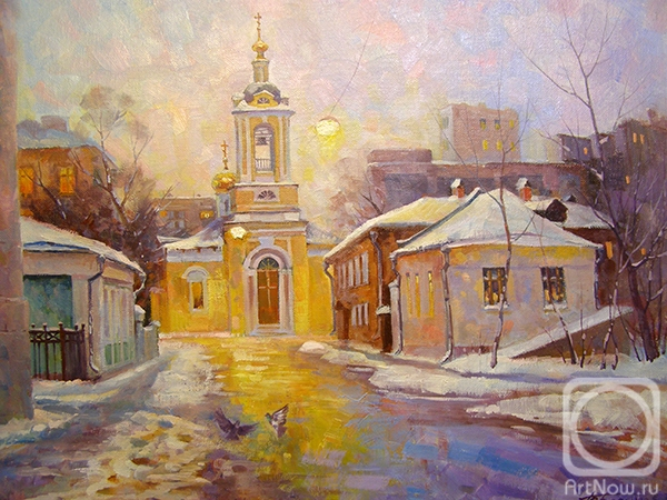 "Gerasimov Vladimir. Moscow. Bolshoi Predtechensky lane (Church of the Nativity of John the Baptist ""what is behind Presnensky Ponds"")"