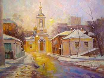 "Moscow. Bolshoi Predtechensky lane (Church of the Nativity of John the Baptist ""what is behind Presnensky Ponds"")"