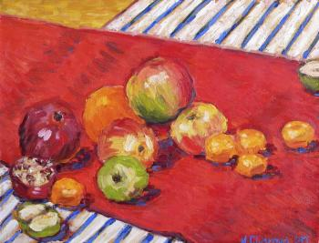 Fruit on the red carpet (Red - Orange Color). Charova Natali