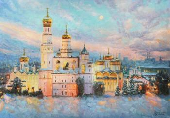 Frosty beauty of the Kremlin (Temples). Razzhivin Igor