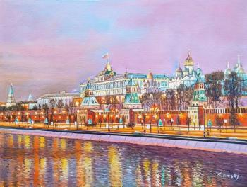 Moscow shines with bright lights. Kamskij Savelij