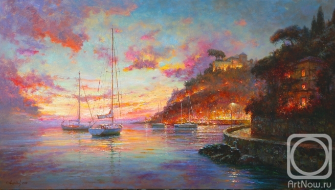 Obukhovskiy Yuriy. Liguria. Evening lights