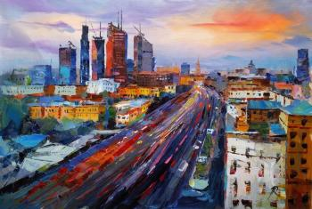 Moscow-City. Megapolis in motion. Rodries Jose