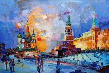 Moscow. Walking on Red Square. Rodries Jose