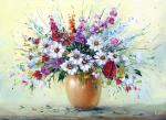 Generalov Eugene. Summer bouquet with wildflowers