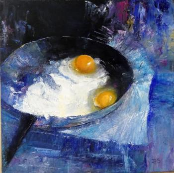 Fried eggs. Sotnikova Diana