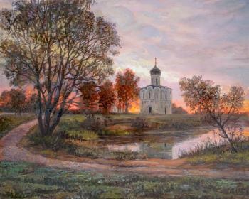 Temple at sunset. Panov Eduard