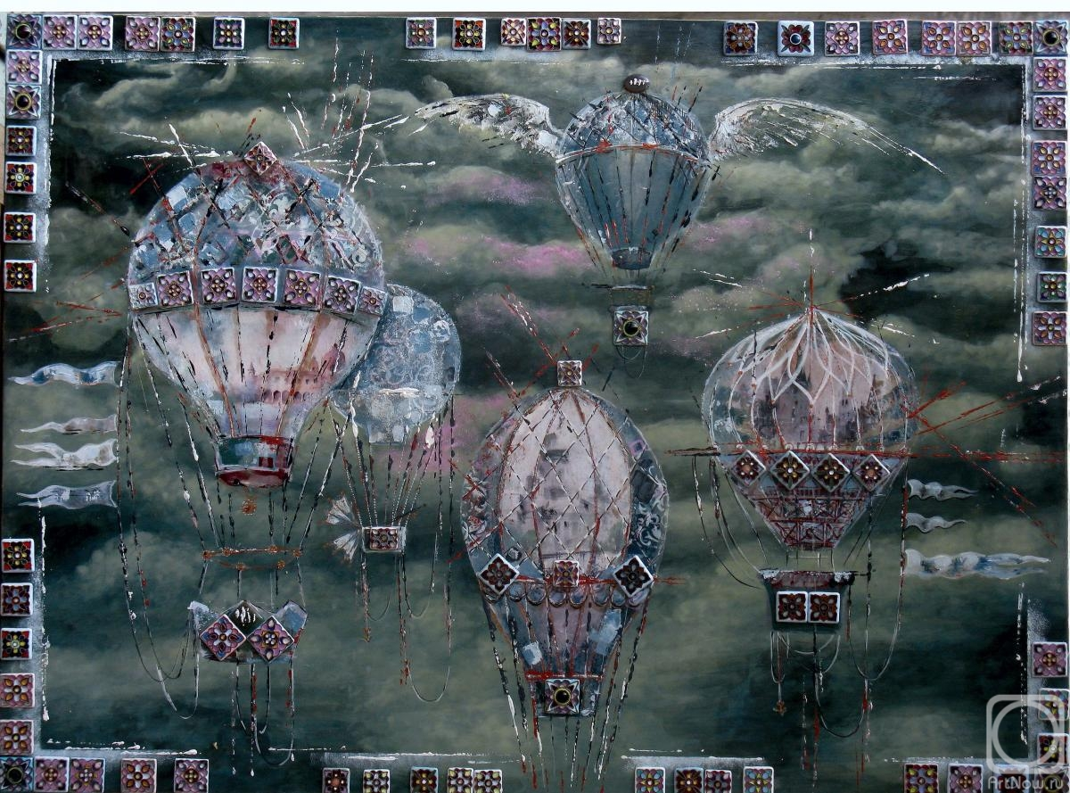 "Shurshakov Igor. Decorative and large painting ""Flight"""