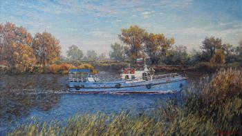 Autumn day on the Volga ducts. Soldatenko Andrey