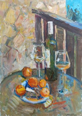 Zhukova Juliya. Still life with tangerines