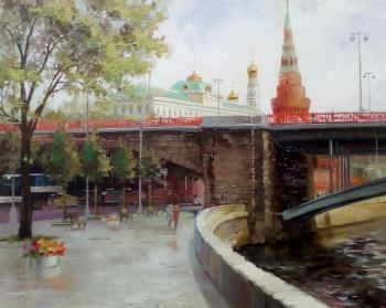 Moscow. By the embankment to the Kremlin. Medvedev Artem