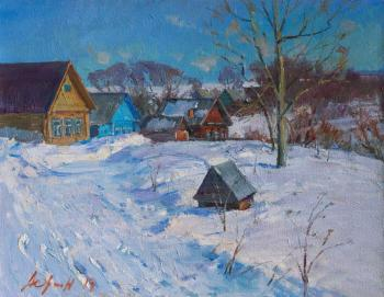 Winter in Village. Yurgin Alexander
