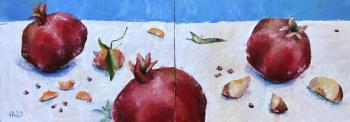 joyful fruits. Diptych. Pavlova Ekaterina