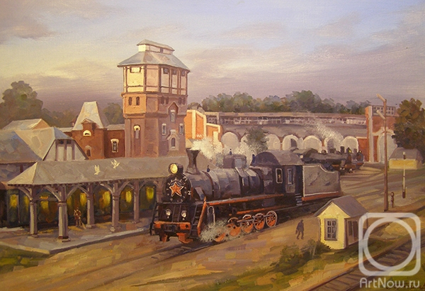 Gerasimov Vladimir. Moscow. Moscow Region. Steam Train Depot