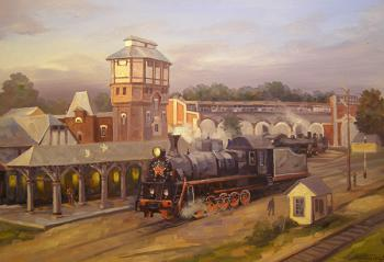Moscow. Moscow Region. Steam Train Depot. Gerasimov Vladimir