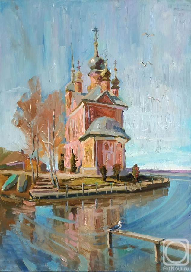 "Silaeva Nina. ""Temple on the water"" - Church of the Forty martyrs in Pereslavl-Zalessky"