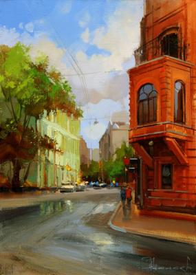 After a thunderstorm. Bolshoy Palashevsky Lane (Historical Center). Shalaev Alexey