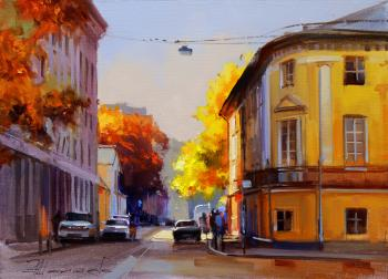 Three days before the opening day. Bolshoy Levshinsky Lane. Shalaev Alexey