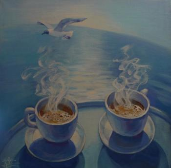 Coffee and the sea. Panina Kira