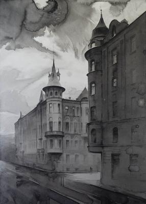 Eldeukov Oleg. Apartment building A. Yu. Keibel on Bolshaya Zelenina