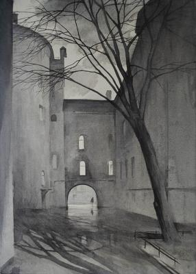 Eldeukov Oleg. Yard between the streets of Podkovyrov and Podrezov