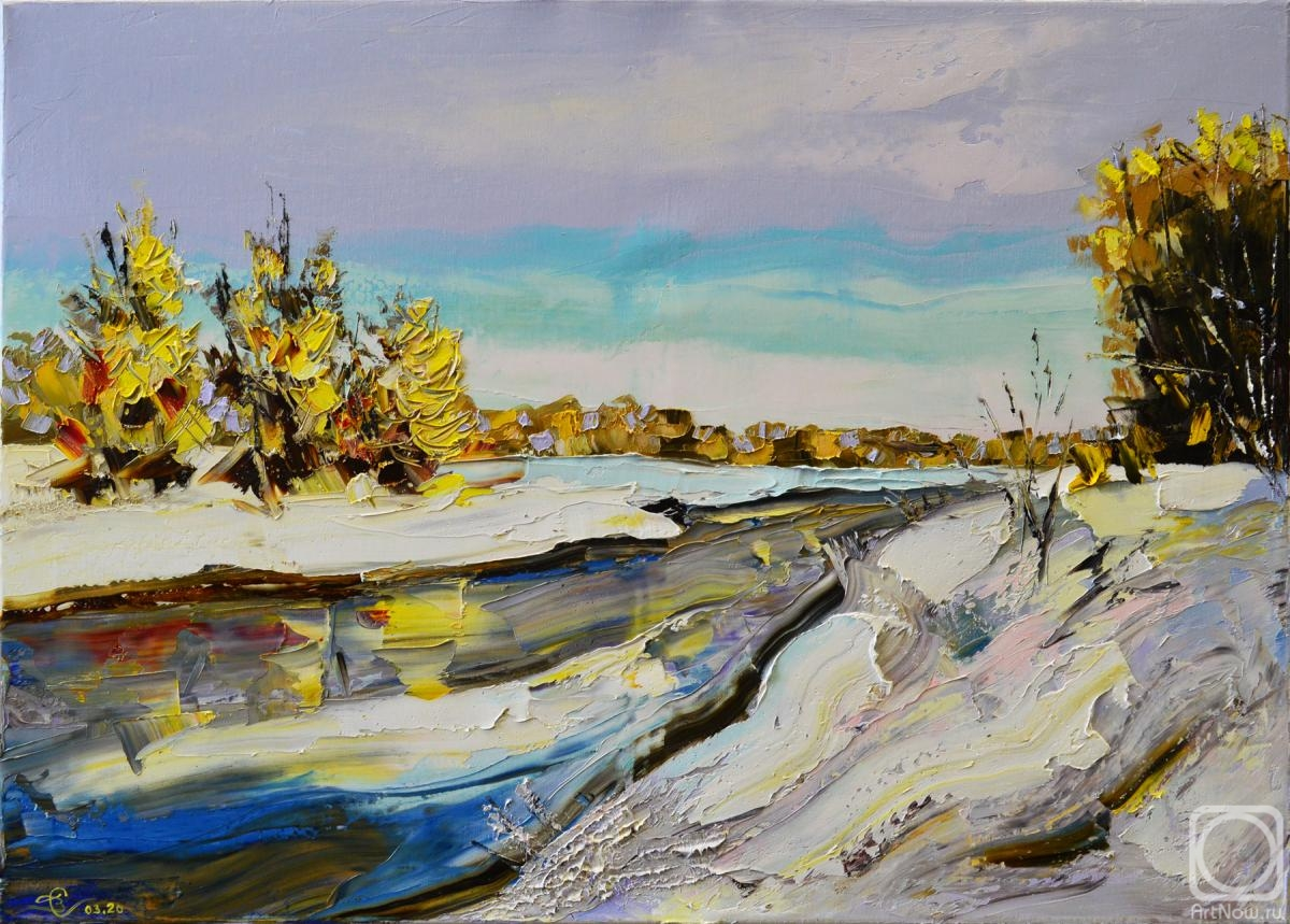 Stolyarov Vadim. Late autumn on the river