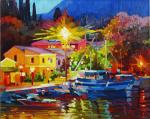 Chizhova Viktoria. Color of the night of Corfu