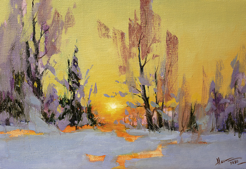 Nesterchuk Stepan. Winter evening