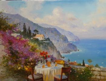 Komarov Nickolay. Tea on the terrace