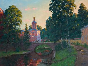 The road to the Alexander Nevsky Lavra. Alexandrovsky Alexander