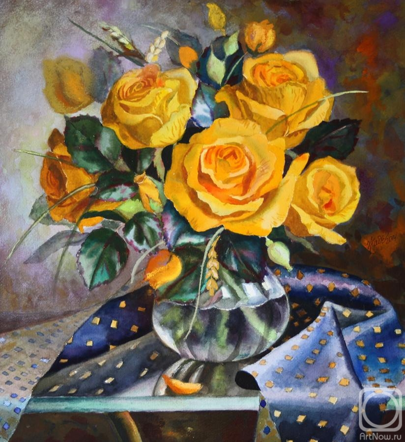 Zhadenova Natalya. Orange roses