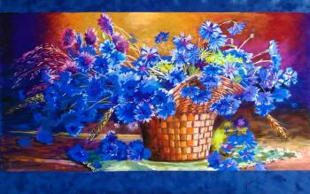 Cornflowers (Painting In The Room). Zhadenova Natalya