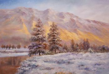 Winter morning in the mountains. Romm Alexandr
