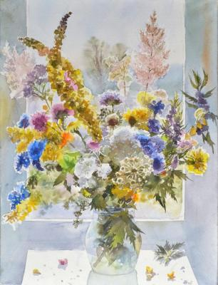 Field bouquet 2019 (Watercolor On Paper). Barsukov Alexey