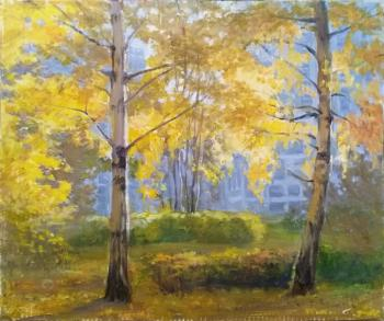 Shumakova Elena. Autumn birches. Etude