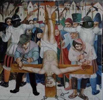 The crucifixion of St. Peter. Akimov Vladimir