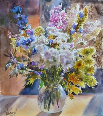 Morning (Watercolor On Paper). Barsukov Alexey