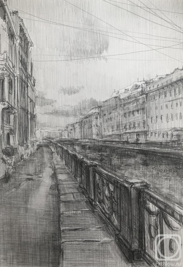 Chistiakov Vsevolod. City sketches, Saint-Petersburg