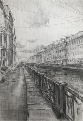 City sketches, Saint-Petersburg (City Landscape Pencil). Chistiakov Vsevolod