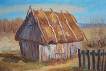 A shed with a thatched roof. Hurriyat. Chernyy Alexandr