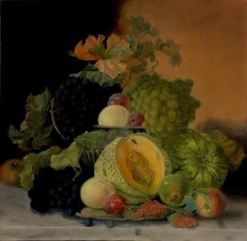 Dutch still life with fruit. Replica Eloise Harriet Stannard. Fomina Lyudmila