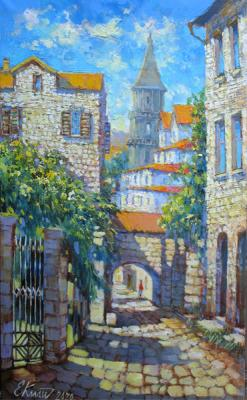 Quiet street in the old town. Montenegro. Kalashnikova Elena