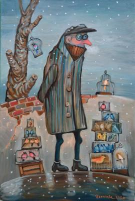 The bird seller (Puddles). Tsvetkova Oksana