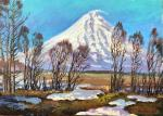 Stepanov Pavel. The last snow of April. Koryaksky Volcano