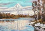 Stepanov Pavel. The greatness of the volcano in the mirror of water