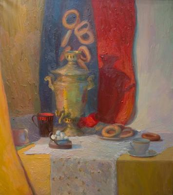 Still life with a samovar (Delicious Food). Ledneva Nataliya