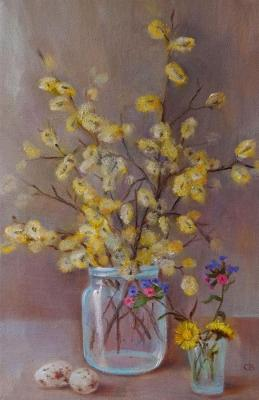 Still life with willow. Razumova Svetlana
