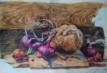 Pumpkin and Crimean onion. Simonova Olga