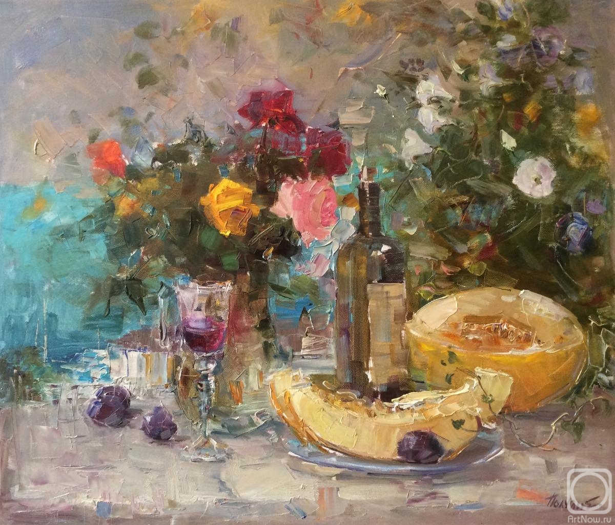Poluyan Yelena. Crimean still life with melon